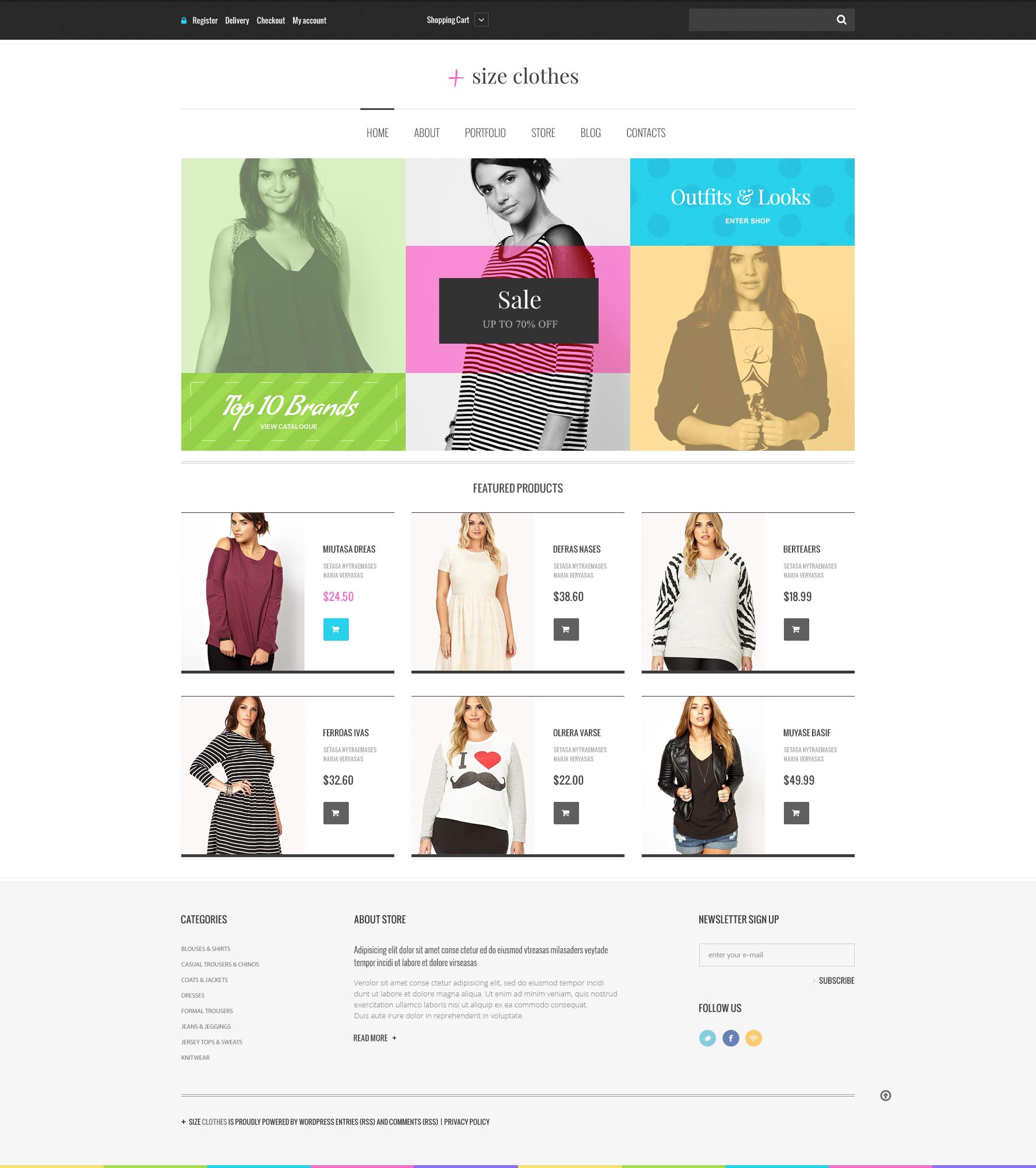 """""""Plus Size Clothes"""" thème WooCommerce adaptatif #48653"""