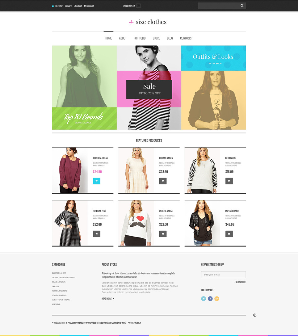 Plus Size Clothes WooCommerce Theme New Screenshots BIG