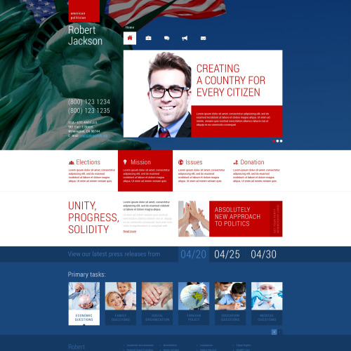 Robert Jackson - WordPress Template based on Bootstrap