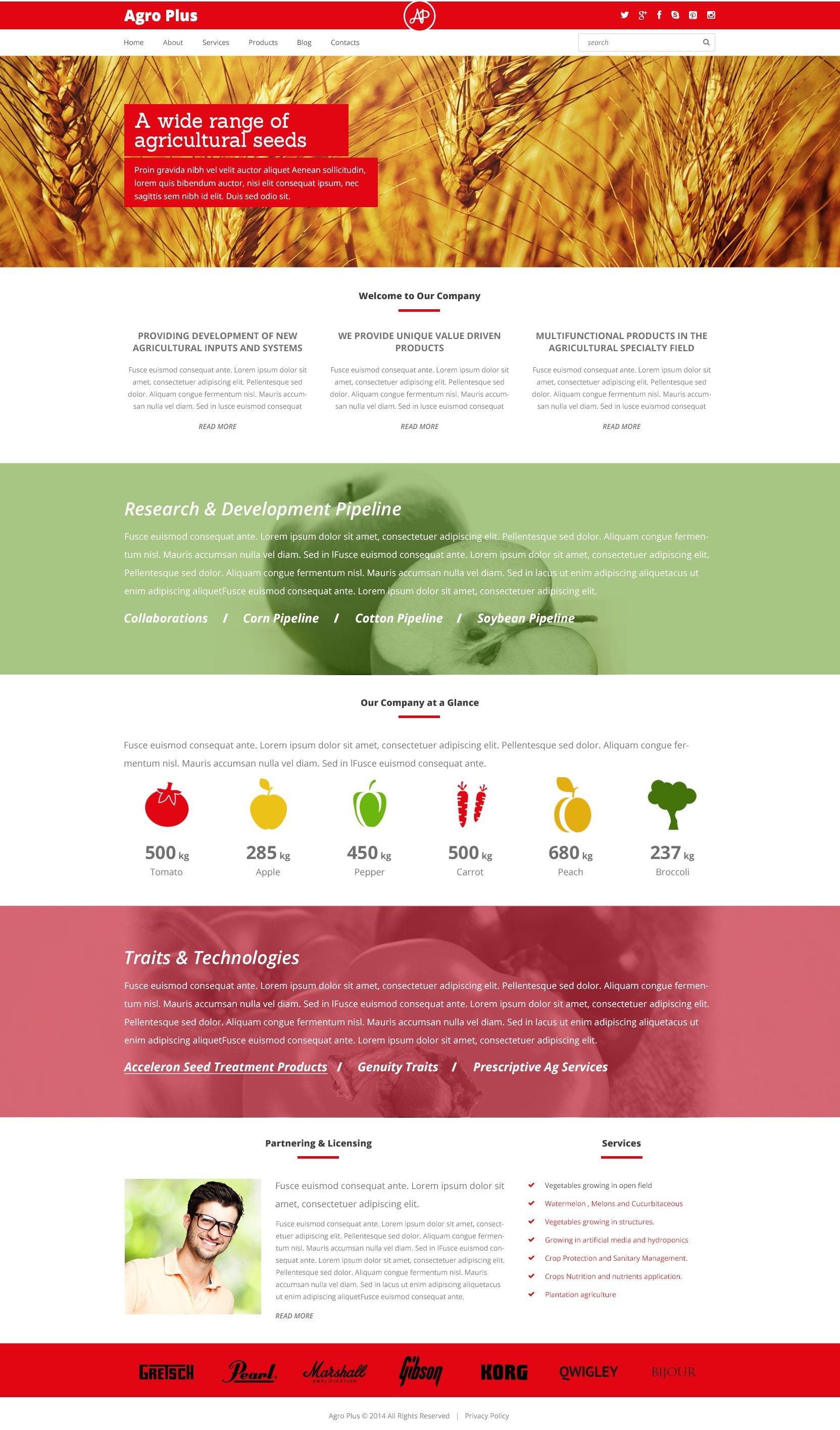 Responsive Farm Templates Wordpress #48675