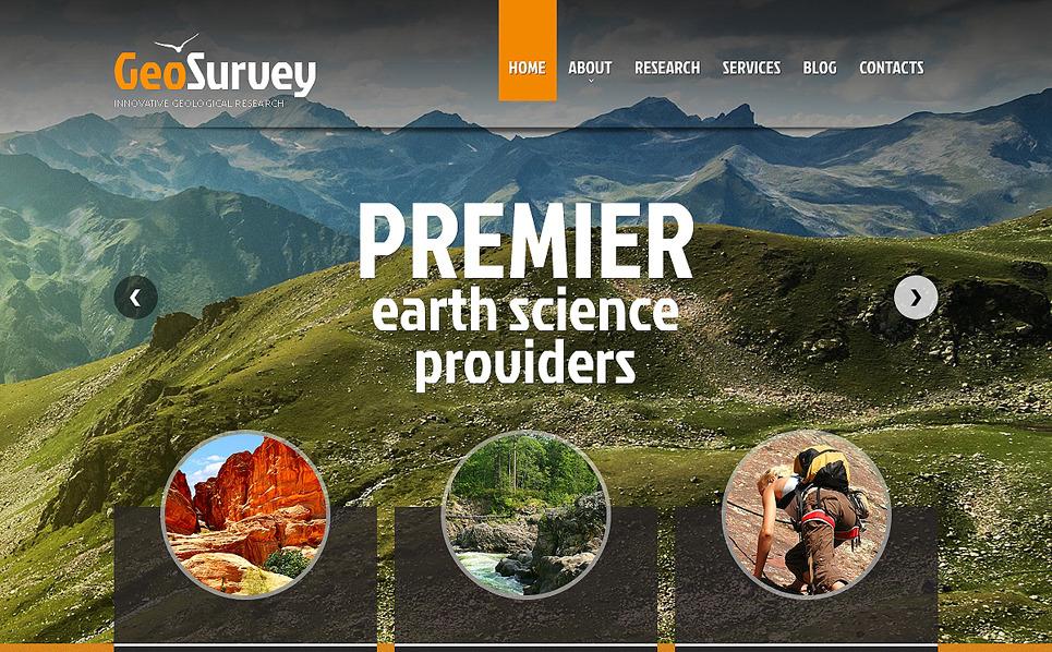 Responsive Website Vorlage für Wissenschaftliche  New Screenshots BIG