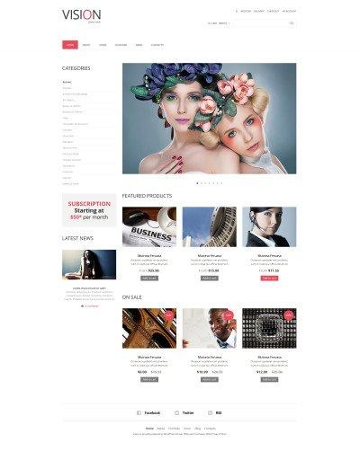 Responsive WooCommerce Thema over Stockfoto's #48610