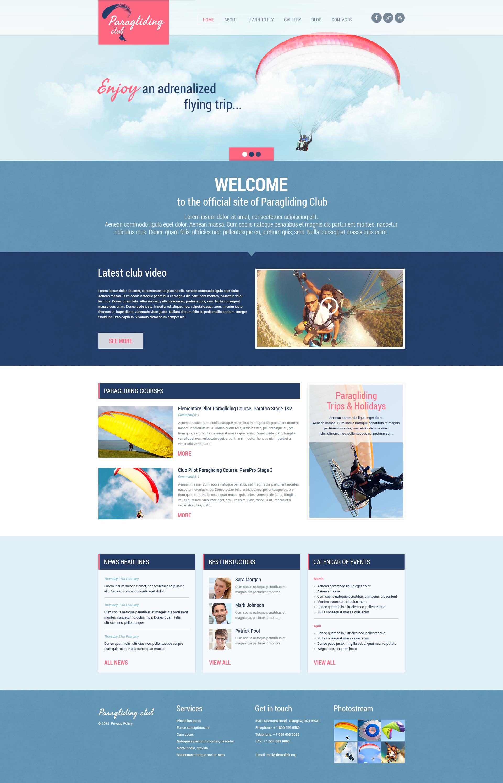 Responsives WordPress Theme für Gleitschirmfliegen #48676