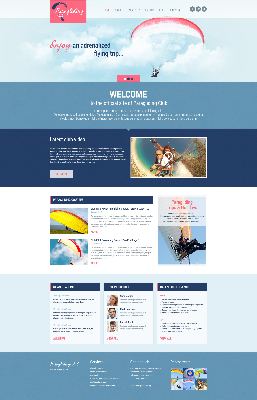 Responsywny motyw WordPress #48676 na temat: paragliding