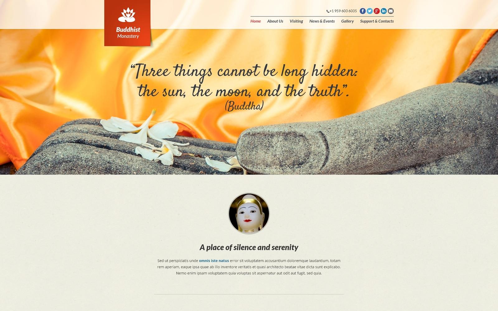 Responsywny szablon Joomla #48640 na temat: buddyzm