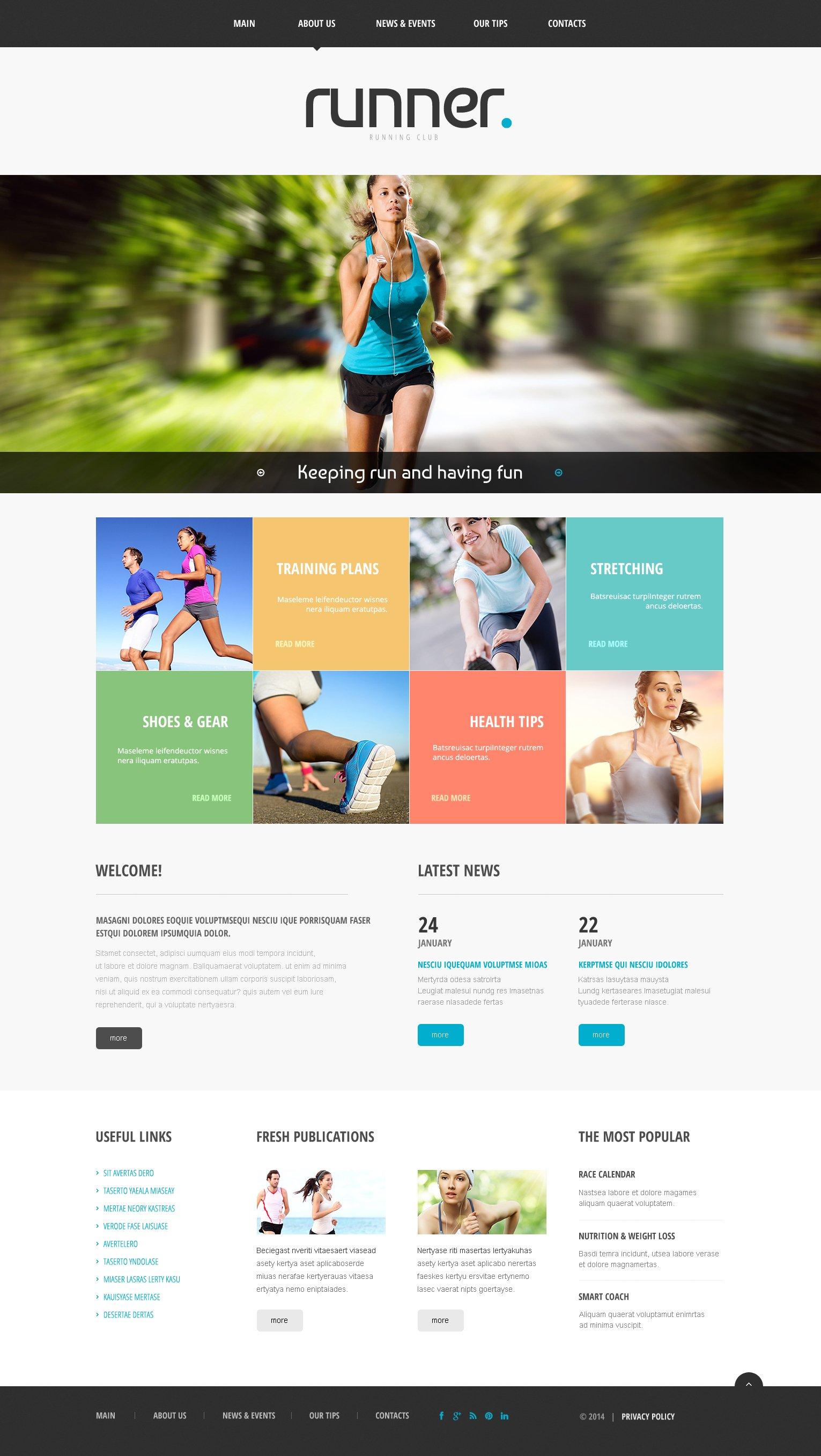 Responsywny szablon strony www #48625 na temat: bieganie