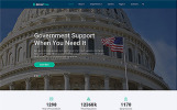 Responsywny szablon strony www GoverFree - Government Multipage Clean HTML #48697