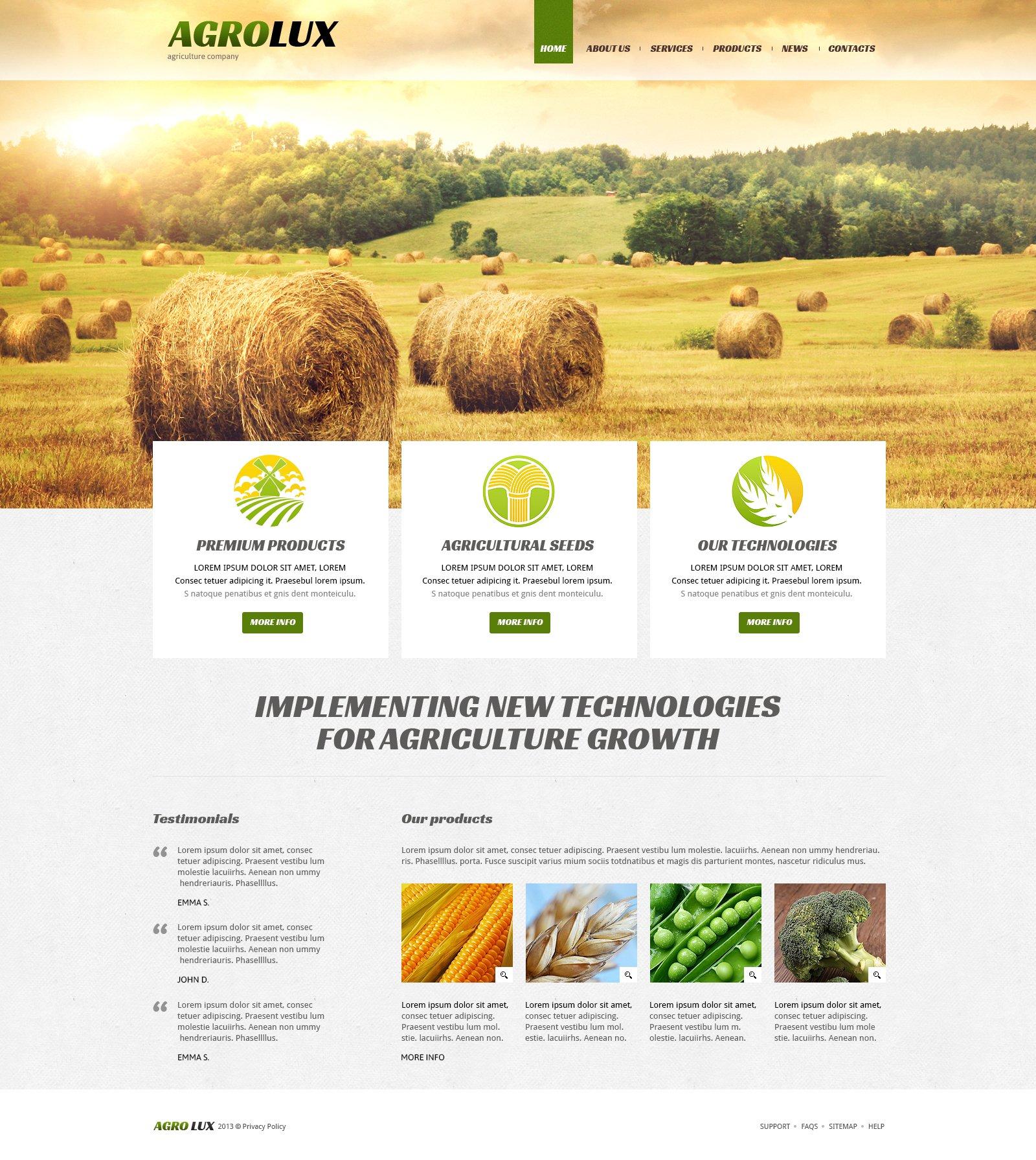 Reszponzív Mezőgazdasági Joomla sablon 48672