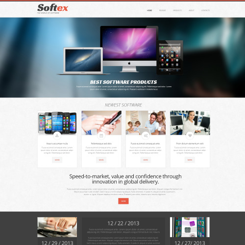 Softex - Software Template based on Bootstrap