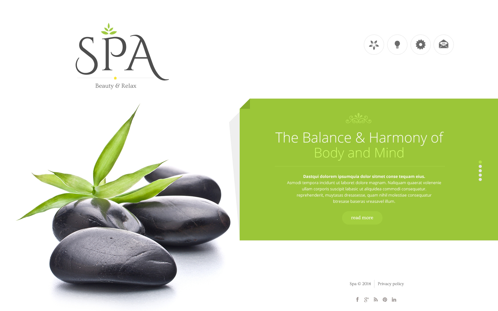 Spa Accessories Website Template #48623