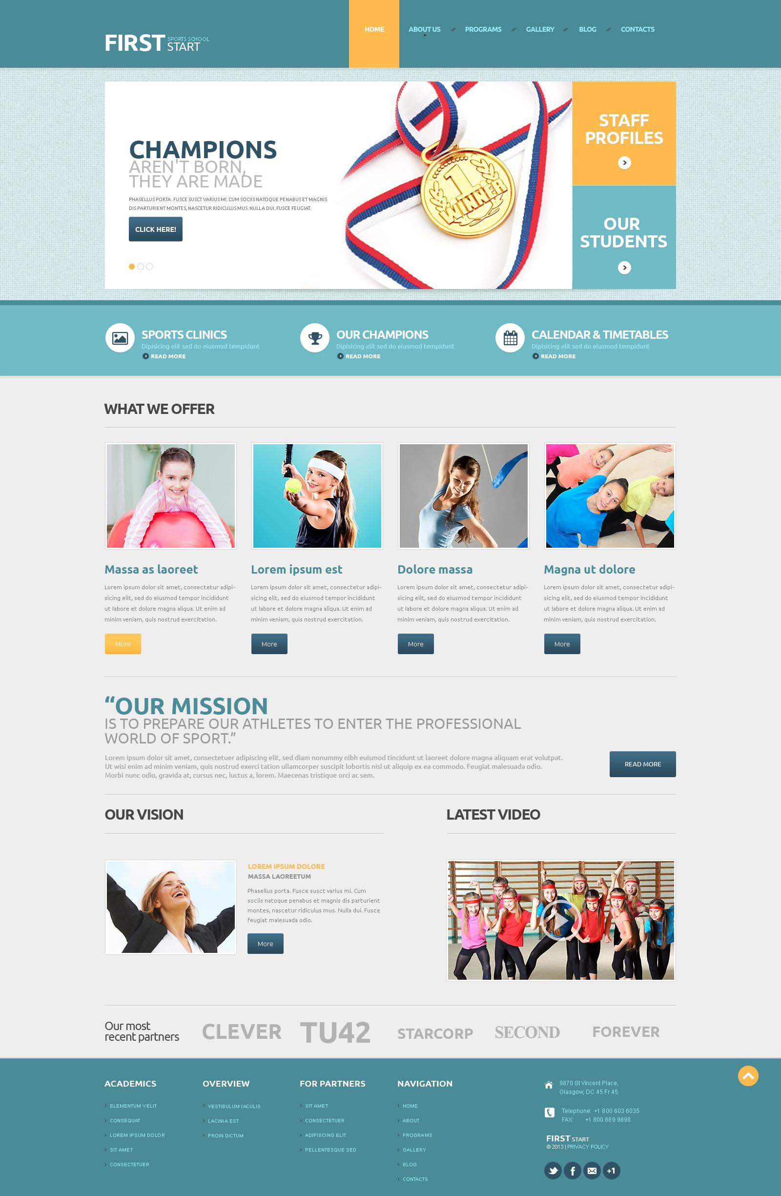 Sport Responsive WordPress Theme - screenshot
