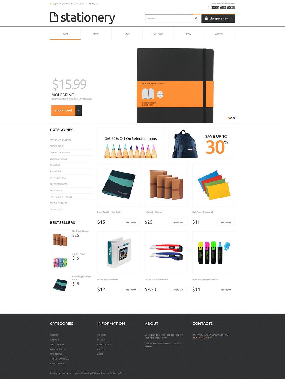 Stationery Responsive WooCommerce Theme New Screenshots BIG