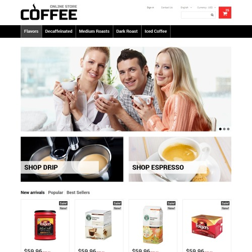 Coffee - PrestaShop Template based on Bootstrap