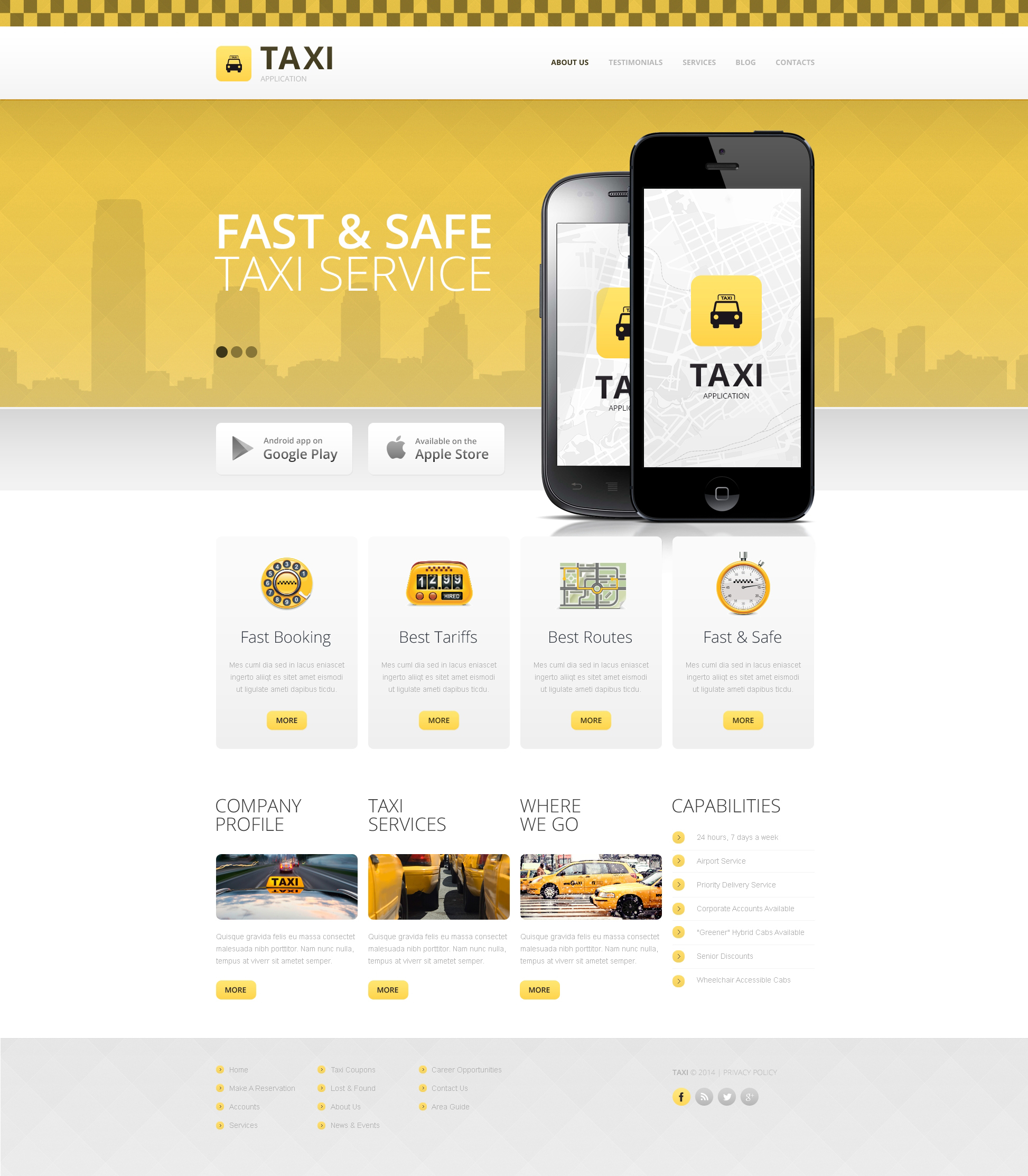 Taxi Drupal Template - screenshot