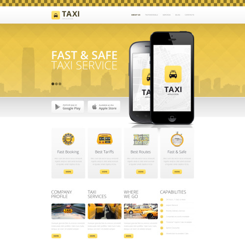 Taxi - HTML5 Drupal Template