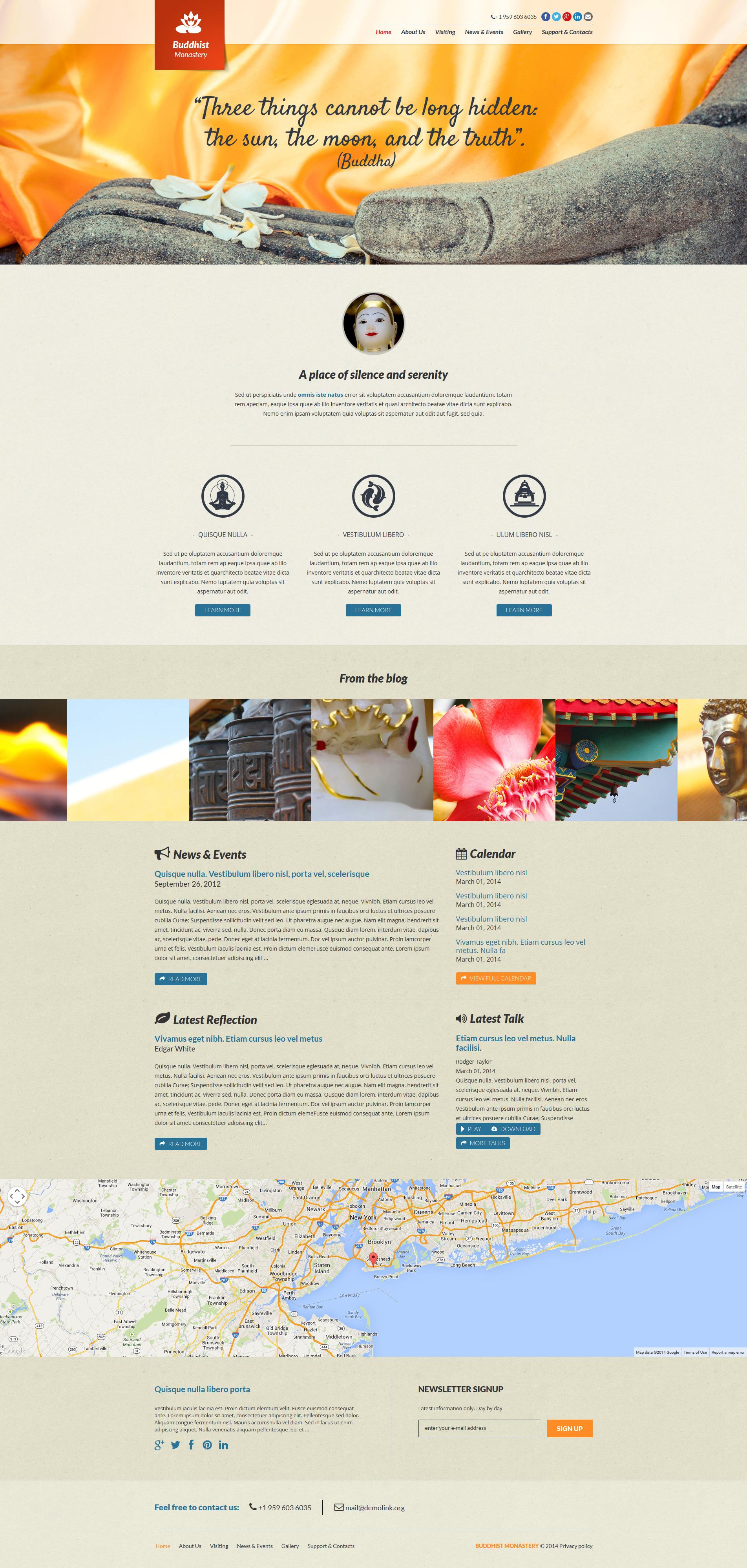 Template Joomla Flexível para Sites de Budismo №48640