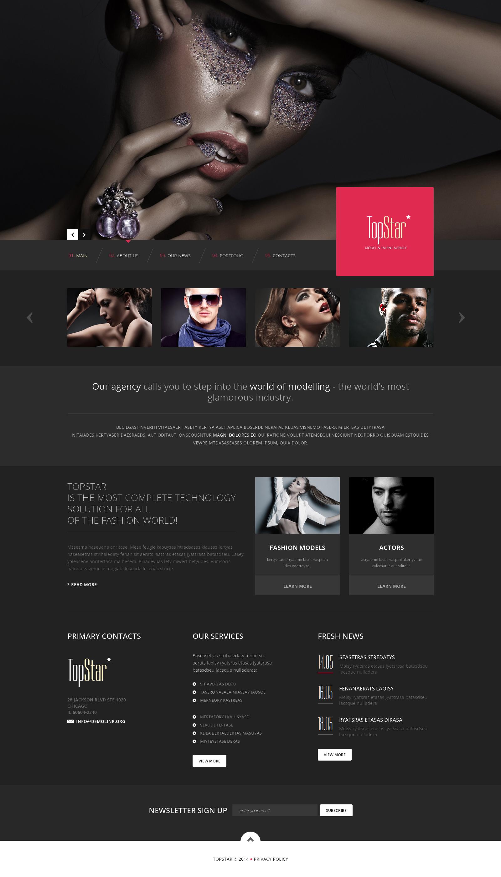 Template Siti Web Responsive #48655 per Un Sito di Agenzia e - screenshot