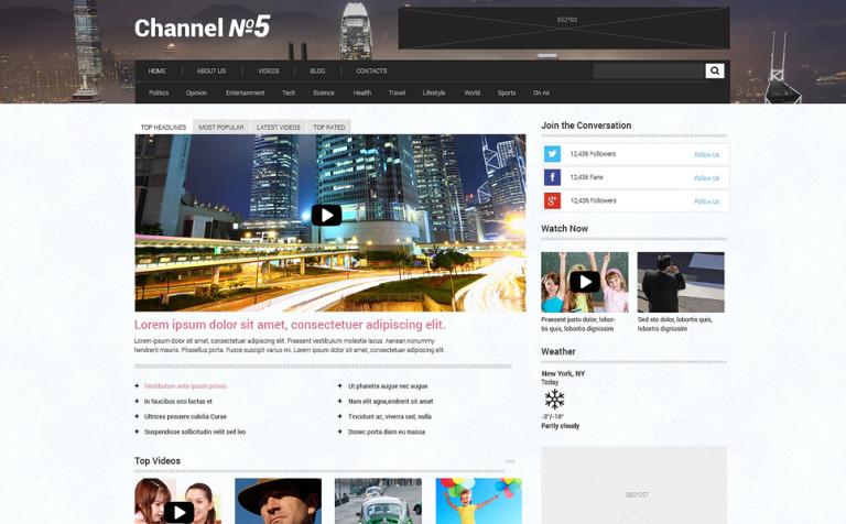TV Channel Responsive WordPress Theme #48633