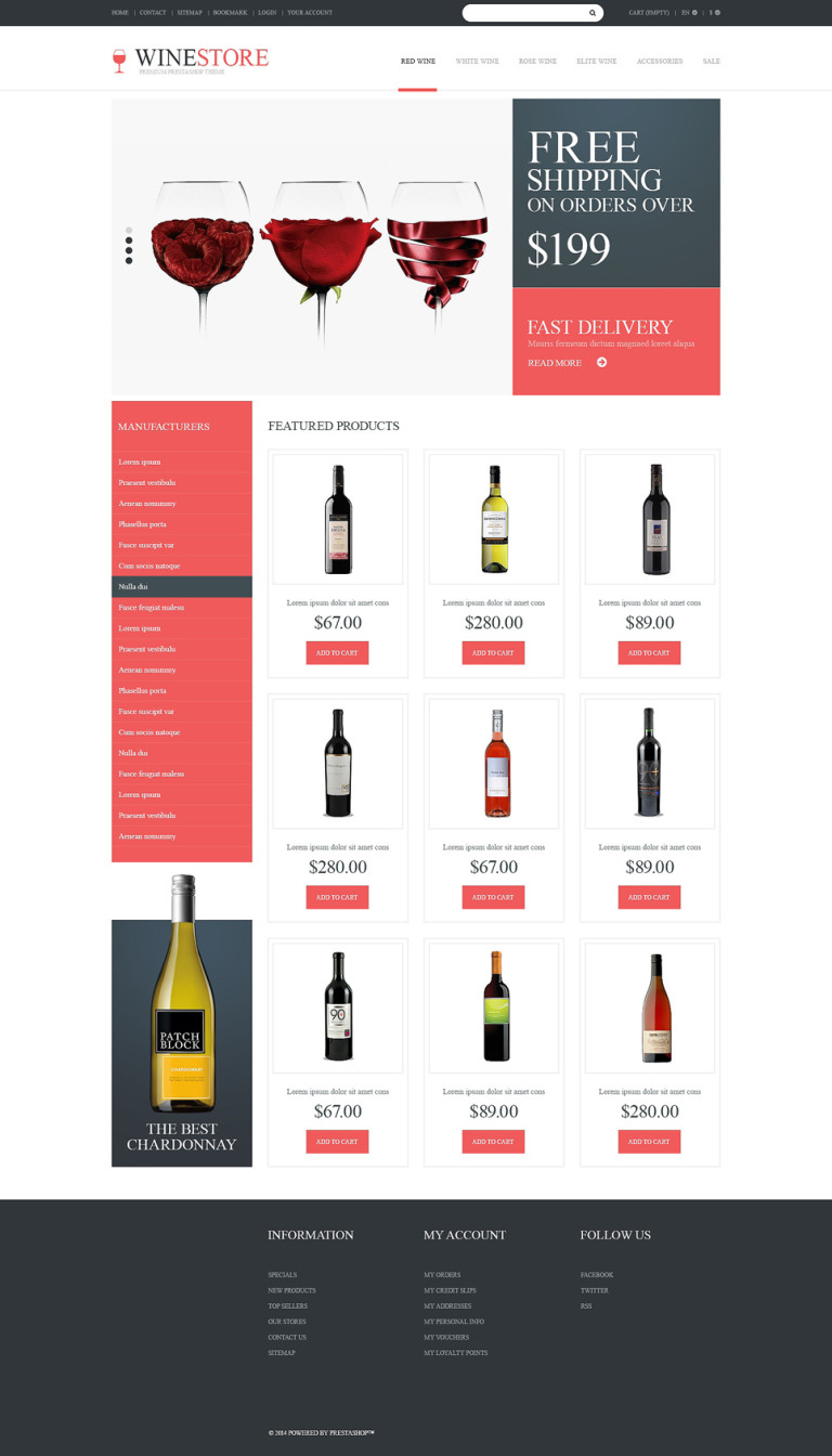 Wine Lovers PrestaShop Theme New Screenshots BIG