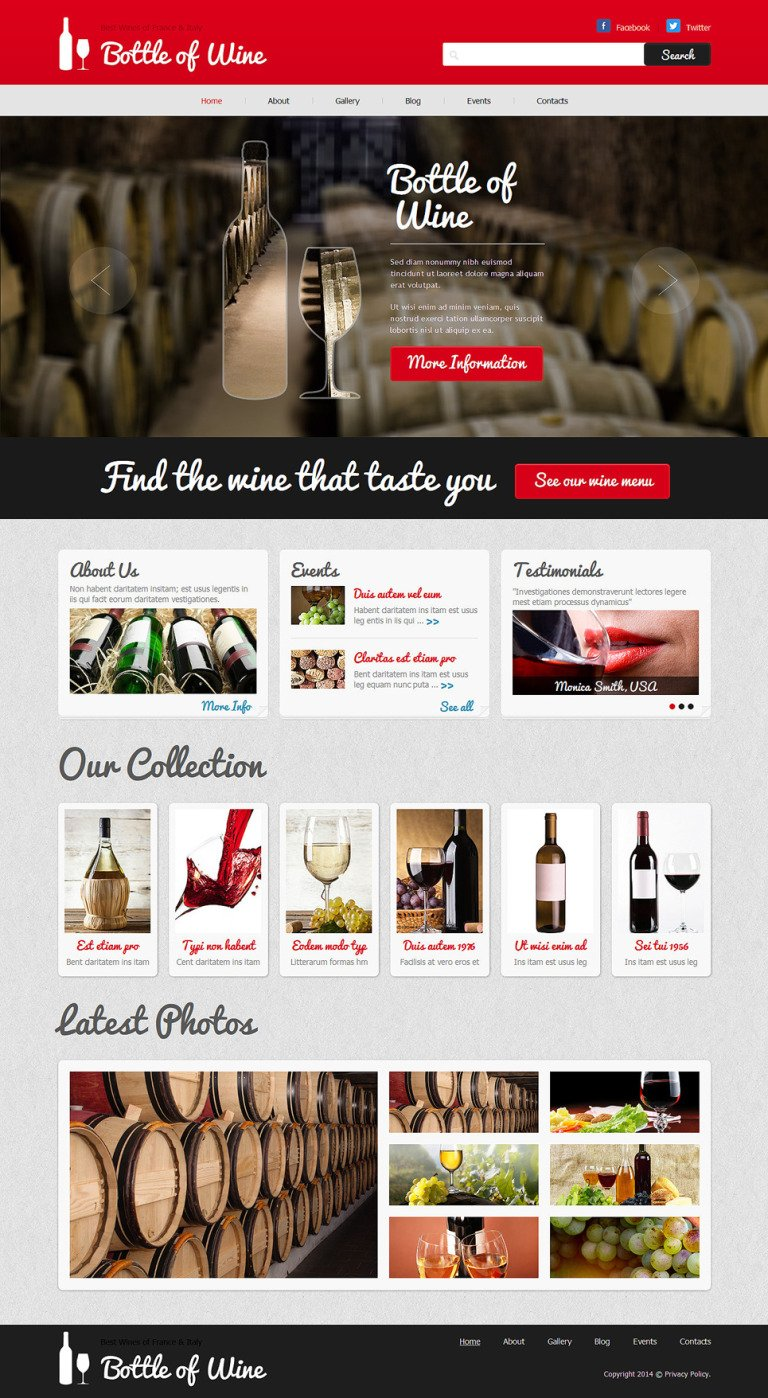 Wine Responsive Joomla Template New Screenshots BIG