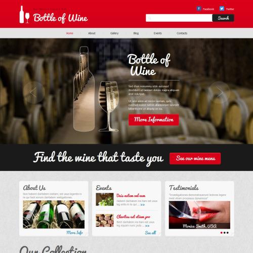 Bottle Of Wine - Joomla! Template based on Bootstrap