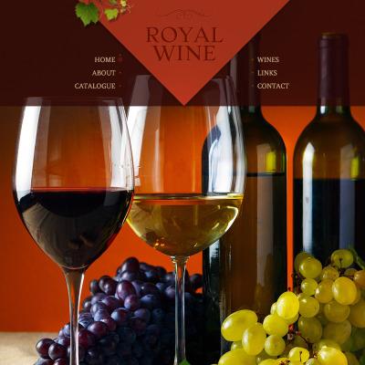 Wine Website Template #48624