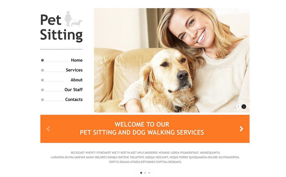 Responsive Website template over Huisdierverzorging  New Screenshots BIG