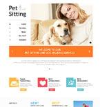 Animals & Pets Website  Template 48701