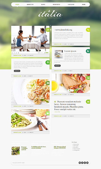 WordPress Theme/Template 48708 Main Page Screenshot
