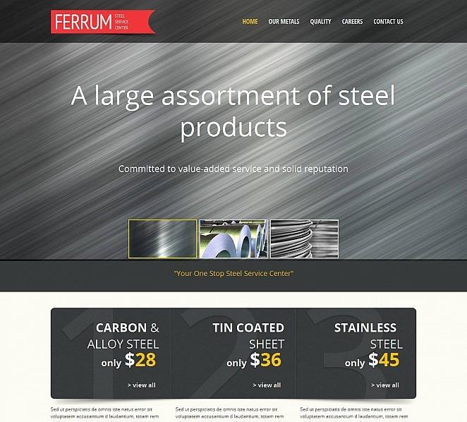 Prémium Acélművek Moto CMS HTML sablon New Screenshots BIG