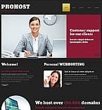 Web Hosting Moto CMS HTML  Template 48724