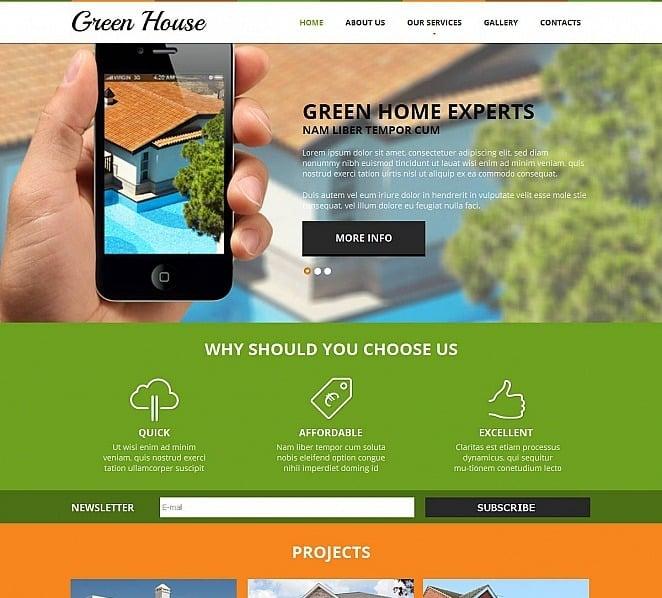 Plantilla Moto CMS HTML #48725 para Sitio de Empresa de construcción New Screenshots BIG