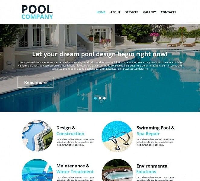 Moto CMS HTML Vorlage für Schwimmbad  New Screenshots BIG