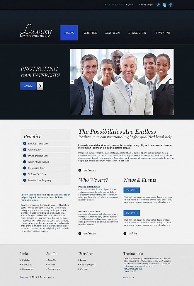Law Firm Website Template with CMS - image