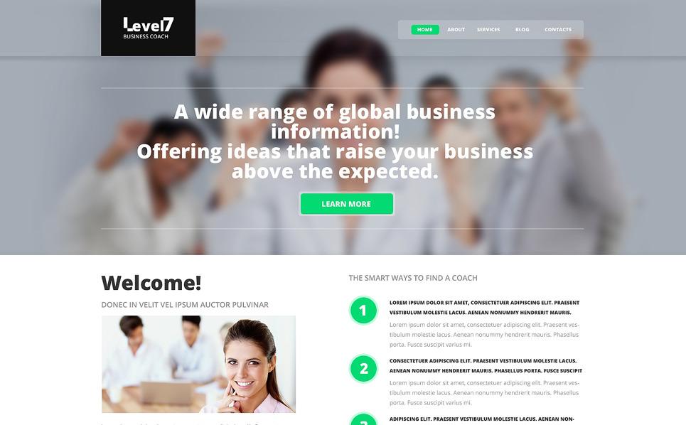Responsive Website template over Business School New Screenshots BIG