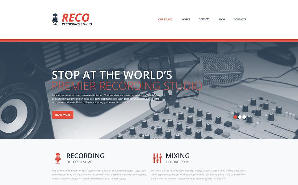 Responzivní Šablona webových stránek na téma Nahrávací studio New Screenshots BIG