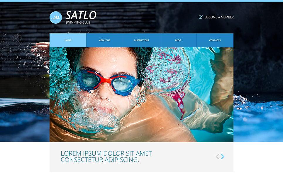Modello Siti Web Responsive #48740 per Un Sito di Nuoto New Screenshots BIG