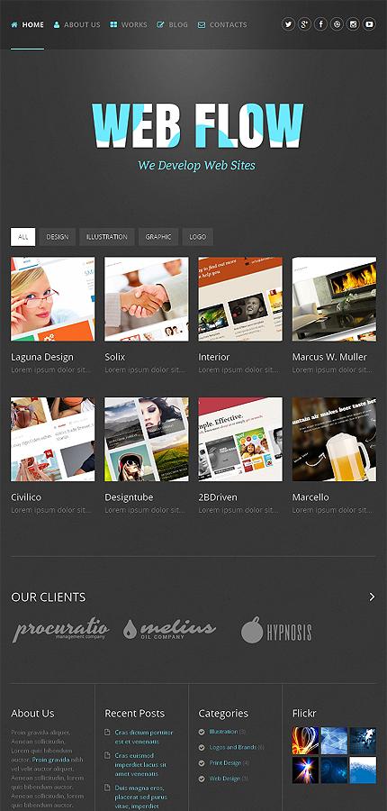WordPress Theme/Template 48745 Main Page Screenshot