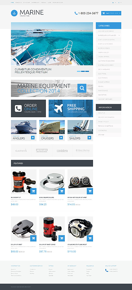 ADOBE Photoshop Template 48755 Home Page Screenshot