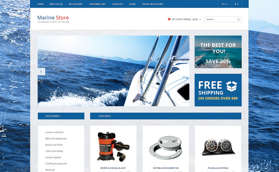 Responsive OpenCart Template over Jachtzeilen  New Screenshots BIG