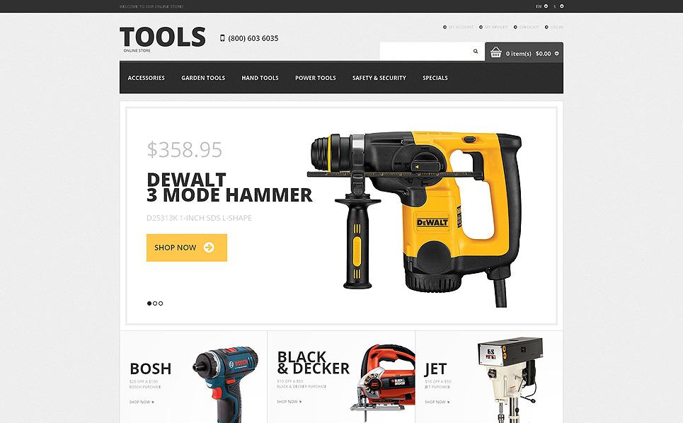 Reszponzív Eszközök és berendezések Magento sablon New Screenshots BIG