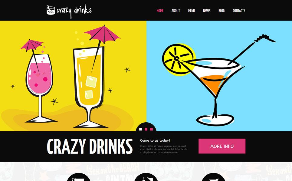 Reszponzív Ételek és italok  Joomla sablon New Screenshots BIG