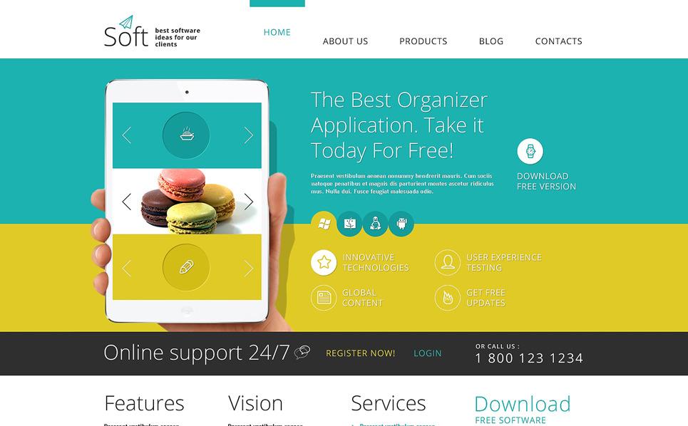 Reszponzív Szoftverfejlesztő cégek  Joomla sablon New Screenshots BIG
