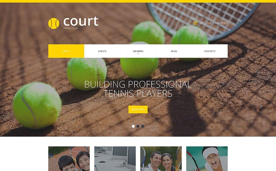 Responsive Website Vorlage für Tennis  New Screenshots BIG