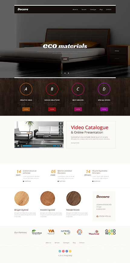 WordPress Theme/Template 48780 Main Page Screenshot