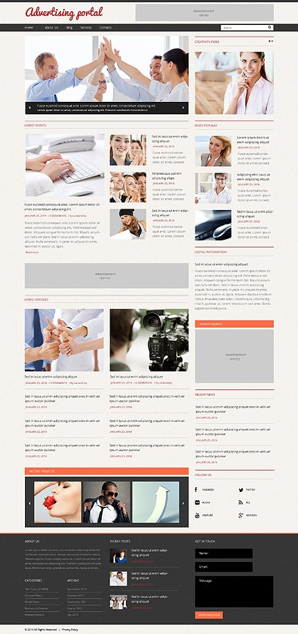 WordPress Theme/Template 48781 Main Page Screenshot