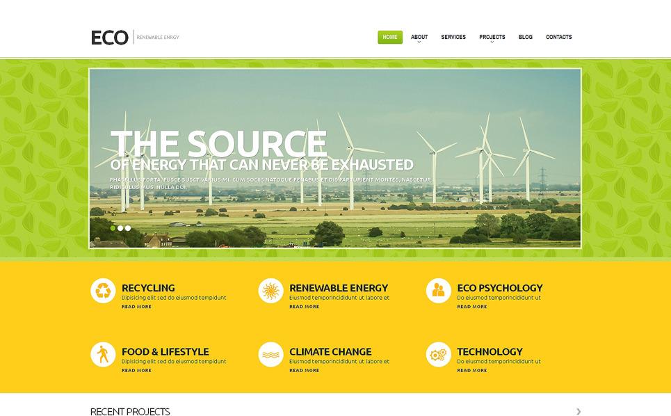Reszponzív Szélenergia WordPress sablon New Screenshots BIG