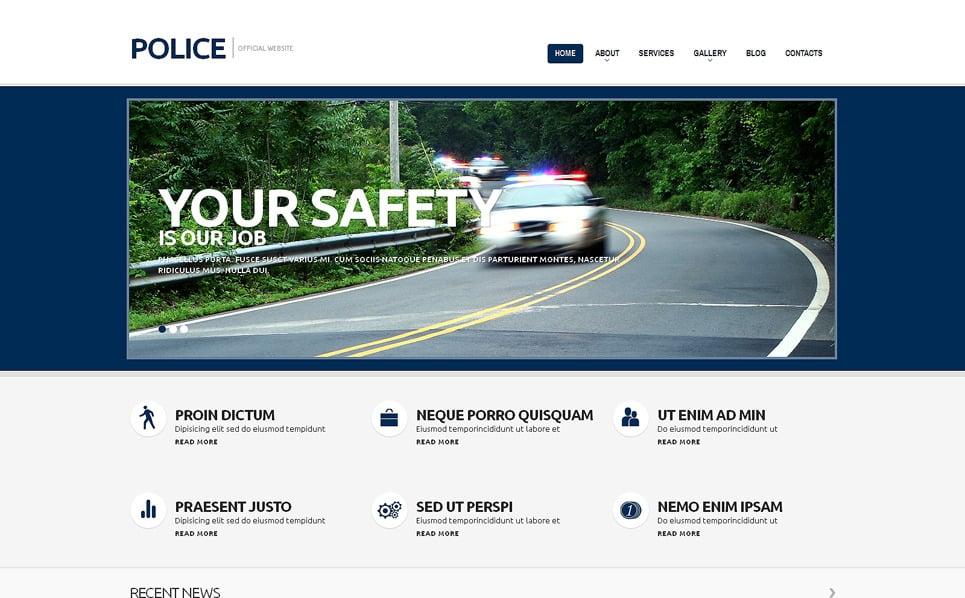Reszponzív Rendőrség WordPress sablon New Screenshots BIG