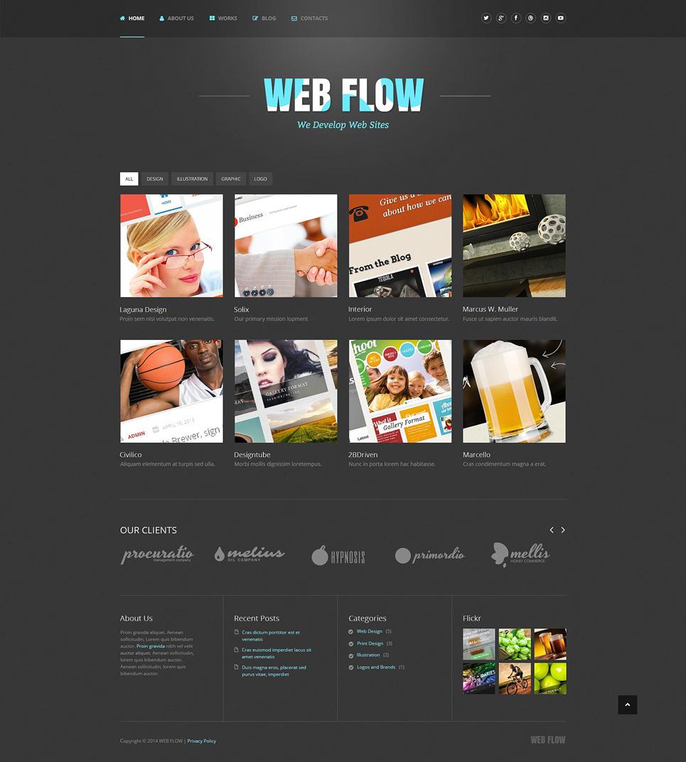 Адаптивный шаблон сайта на тему веб-дизайн #48745