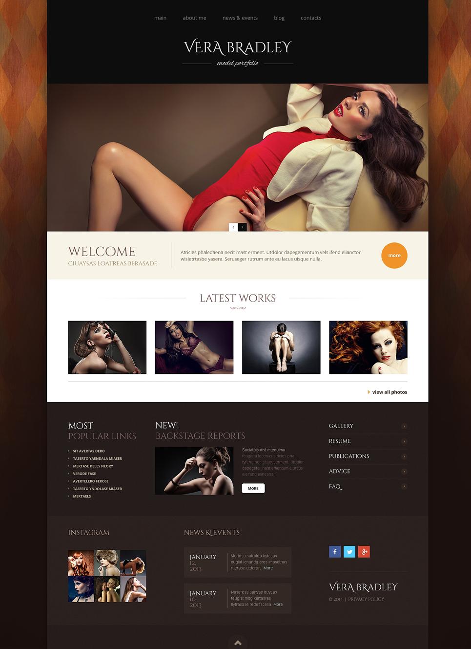 Адаптивный шаблон сайта на тему модельное агентство #48789